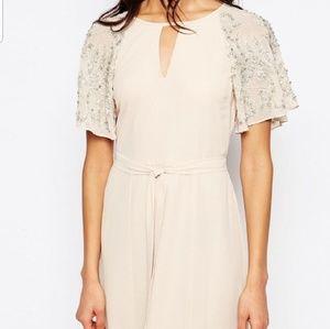 River Island embellished sleeves Maxi dress
